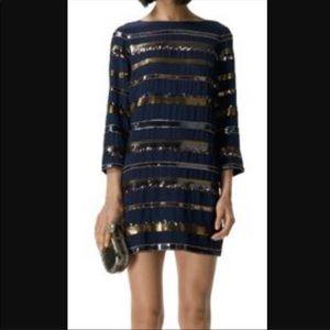 Club Monaco Silk Sequin Dress